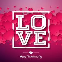 Amor, feliz dia dos namorados design vetor
