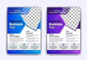 design de modelo de folheto de negócios vetor