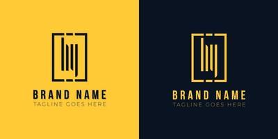 letra inicial abstrata minimalista com logotipo. vetor