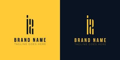 logotipo minimalista da letra inicial iz. vetor