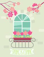 A primavera está chegando.
