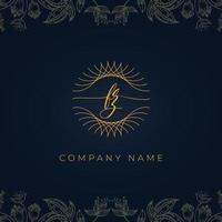 logotipo de fz carta de luxo elegante. vetor