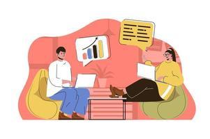 conceito de reunião de negócios para site e site móvel vetor