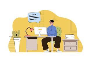 conceito de secretário-chefe para website e site móvel vetor
