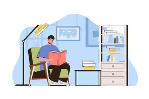 conceito de estudante universitário para website e site móvel vetor