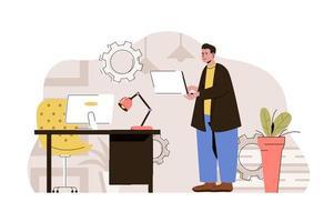 conceito de tecnologias de computador para site e site móvel vetor