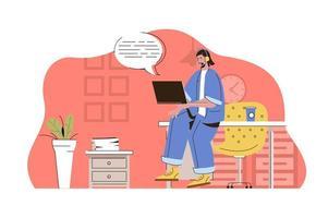 conceito de suporte para website e site móvel vetor