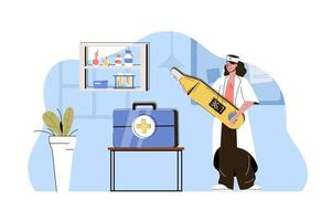 conceito de medicina de alta qualidade para website e site móvel vetor