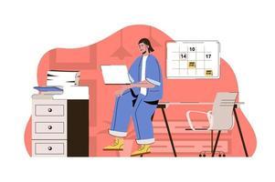 conceito de gerenciamento de escritório para site e site móvel vetor