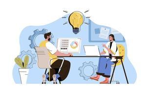 conceito de criação de ideias para site e site móvel vetor