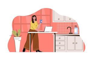 terceirizar o conceito de trabalho para site e site móvel vetor