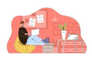 conceito de help desk para site e site móvel vetor