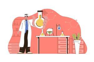 conceito de pesquisa médica para website e site móvel vetor