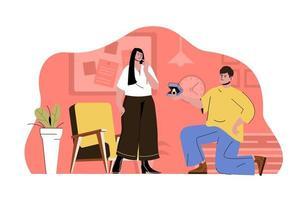 conceito de proposta de casamento para website e site móvel vetor