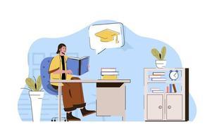 conceito de ensino superior para website e site móvel vetor
