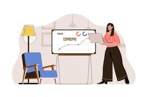 conceito de processo de gestão para site e site móvel vetor