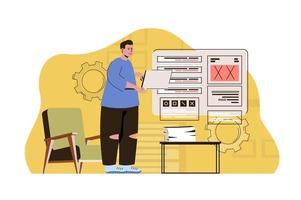 conceito de linguagem de máquina para site e site móvel vetor