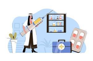 conceito de medicina de qualidade para website e site móvel vetor