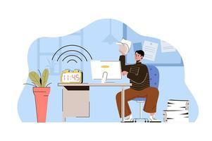 pegue o conceito de prazo para website e site móvel vetor