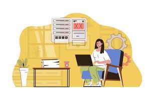 conceito de trabalho em um lugar melhor para website e site para celular vetor
