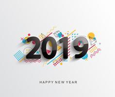 Cartão moderno do design 2019 Vetor.