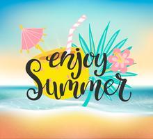 Aproveite a festa na praia de verão.