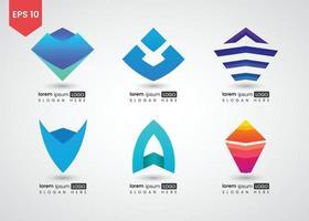 ilustração em vetor gradiente brilhante logotipo abstrato triângulo