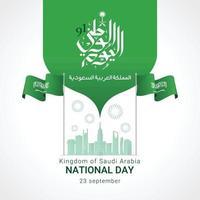 cartão comemorativo do dia nacional da arábia saudita vetor