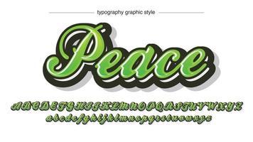 tipografia cursiva com pincel negrito verde vetor
