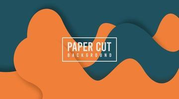 ilustração de fundo de corte de papel, banner e folheto da web vetor