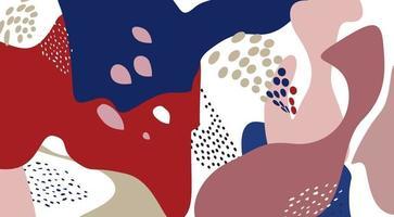 padrão artístico abstrato floral pontilhado textura de forma fluida orgânica vetor