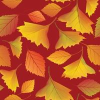 folhas de outono padrão sem emenda. outono folha jardim natureza fundo vetor
