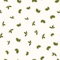 padrão sem emenda de belas folhas de coleção vetor