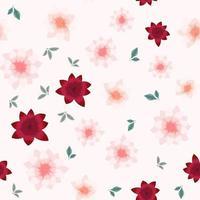padrão de flor floral sem costura de fundo colorido para tecido, têxteis vetor