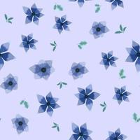padrão sem emenda de bela coleção de flores vetor