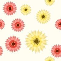 decoração de papel de parede floral abstrato elegante padrão sem emenda vetor
