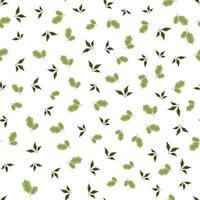 padrão floral sem costura usando belas folhas de folha na moda vetor