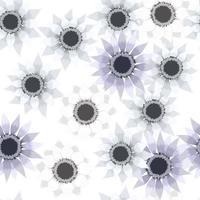 elegante padrão floral sem costura de folhas verdes florescendo vetor