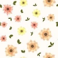 Teste padrão floral sem costura usando lindas flores novas para impressão vetor