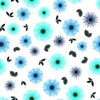 padrão de vetor sem costura papel de parede de flores florais fofas, roupas de mulher