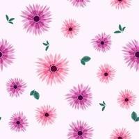 padrão sem emenda da bela coleção de folhas de fundo vetor
