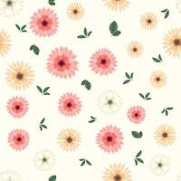 sem costura padrão floral de flores fofas para impressão em têxteis, tecidos, vetor