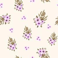 padrão de vetor sem costura de arranjos de flores fofas coloridas