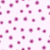 tecido delicado com padrão floral sem costura, moderno e colorido com flores de jardim vetor