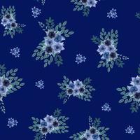 design de superfície de padrão vetorial sem costura de arranjos de flores coloridas vetor