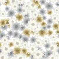 coleção de padrões de papel de parede sem costura flores coloridas design de roupas vetor