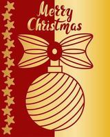 cartão de felicitações de Natal com ilustração vetorial de letras de mão vetor