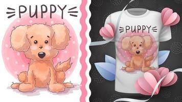 cão adorável personagem de desenho animado vetor