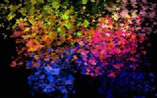 fundo escuro multicolorido do vetor do arco-íris com triângulos.