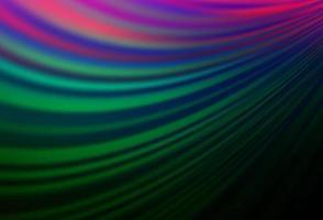 modelo de vetor de arco-íris multicolorido escuro com formas de lava.